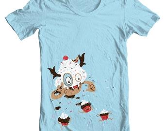 Cupcake Monster T-Shirt - Men's XLarge, unisex short sleeve shirt