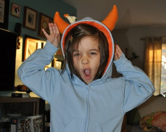 Customize Your Little Monster Hoodie - Youth - monster hoodie, horned sweatshirt, custom jacket