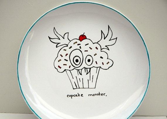 Cupcake Monster Plate