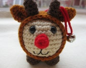 Baby Rudolph the Red-nosed Reindeer Ornament and Toy - Amigurumi Pattern