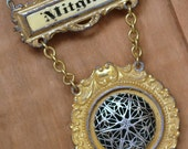 antique badge locket necklace members ONLY