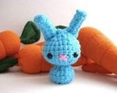 Wicked Blue Baby Radical Rainbow Moon Bun - Amigurumi Bunny Rabbit
