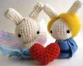 Cupid and Psyche Moon Buns - Amigurumi Bunny Rabbits