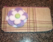Tina purple flower clutch bag