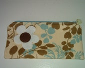 Sale -- Retro leaves clutch bag