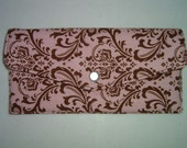 Pink and Brown Swirls Clutch