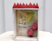 "Sweet Cherry Shadow Box ""Life is just a Bowl of Cherries"""