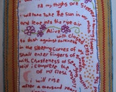 e.e. cummings embroidered poem book
