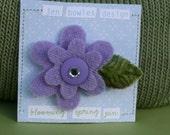 Blooming Spring Flower Pin-Purple