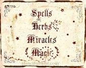 Spells Herbs Miracles Magic - Large Print
