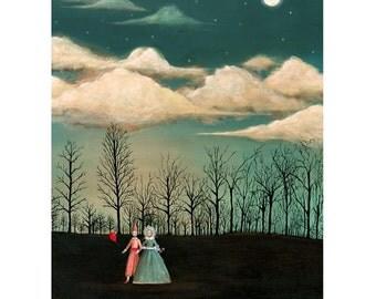 Through The Trees - Extra large - 5 Postcard set