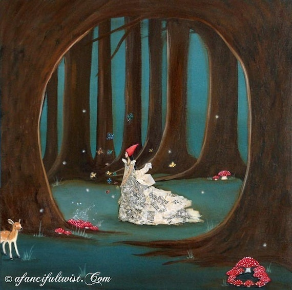 "Fairy Tale Forest - Large 12"" x 12"""