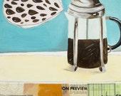 Reproduction Art Print - I Heart Coffee