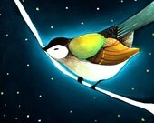 Art Print - Bird Art - Print of Painting - Print of Oil Painting - Bird Art Print - 8x10 Print - Wall Art - Home Decor - Night Bird