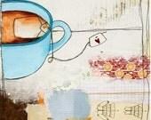 Wall Art Print - Tea Art - Tea Art Print - Art for Kitchen - Gift for Tea Lover - Home Decor Art Print - Tea Print of Painting - Tea Love