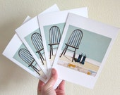 Set of Four Blank art Greeting Cards - Friends