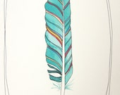 Feather art  Illustration - Light as a Feather