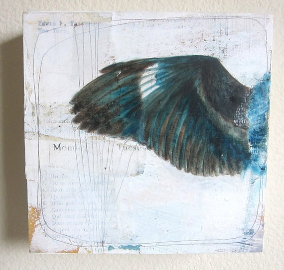 Encaustic Mixed Media Oil Painting - Monday is My Sunday