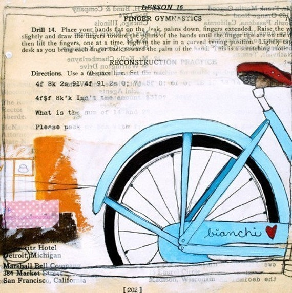 I Heart My Bike...5x7 Print