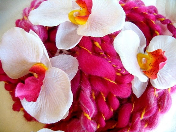 Handspun Art Yarn - Orchid 2