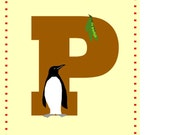 Alphabet Print Letter P nursery wall decor