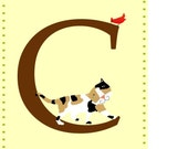 Letter C Nursery print Alphabet letter wall decor