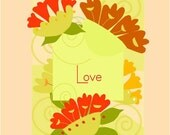 greeting card subtle love  floral collection