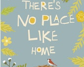 No place like home hand cut type 8 x 10 inch print in 11 x 14 inch mat