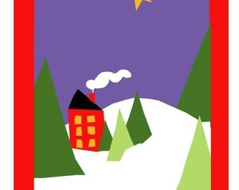 little house in the mountain greeting card collection