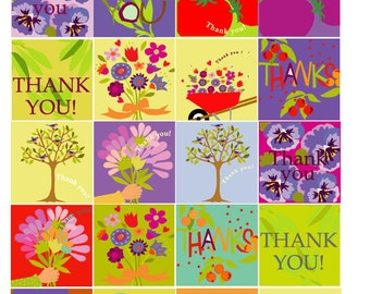 thank you tags pastel collection