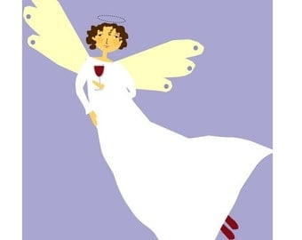 greeting card joy of cabernet angel