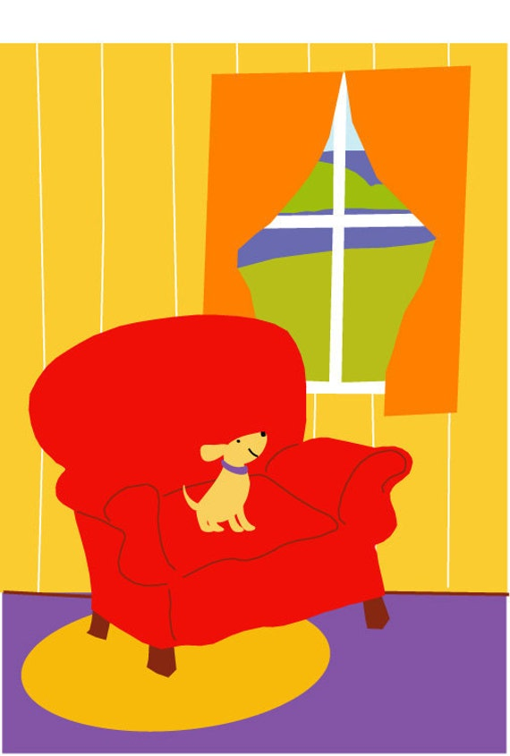 Print 8 X 10 In A Mat Cheerful Pup Gazes Out At