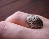 RESERVED Vintage 1940s Marcasite Cocktail ring. The Starlette