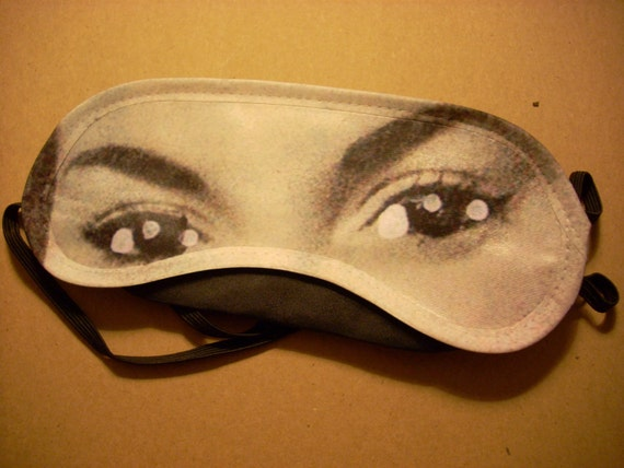 flirty eyes - one of a kind unisex sleep mask with an artsy style