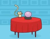 Prediction Cat Greeting Card