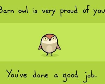 Barn Owl Congratulations Card