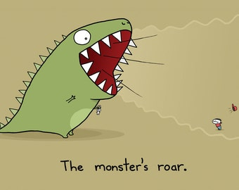 Monster's Roar Greeting Card