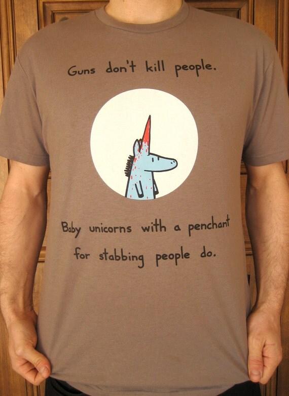 Baby Unicorn Kills People Tshirt (only size medium left)