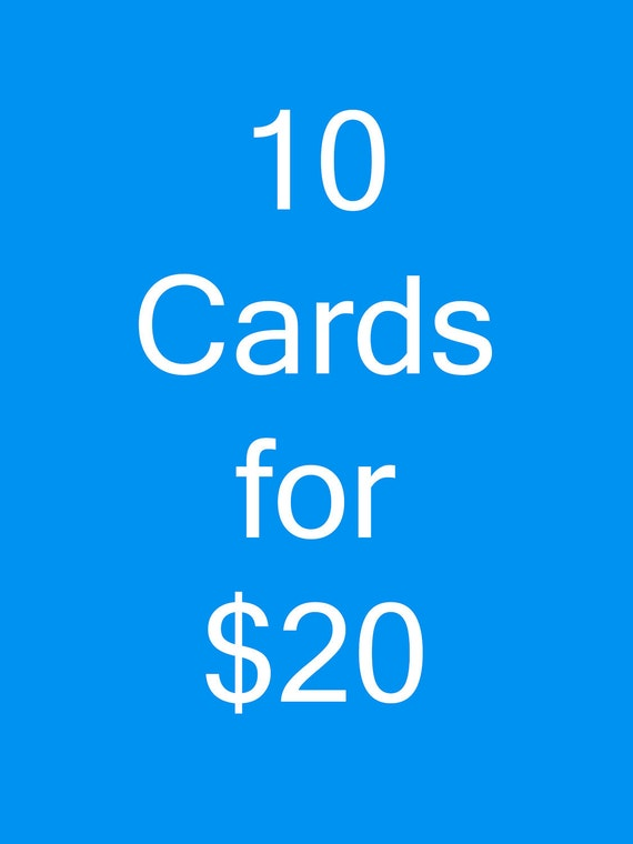 Choose Any 10 Cards in My Shop
