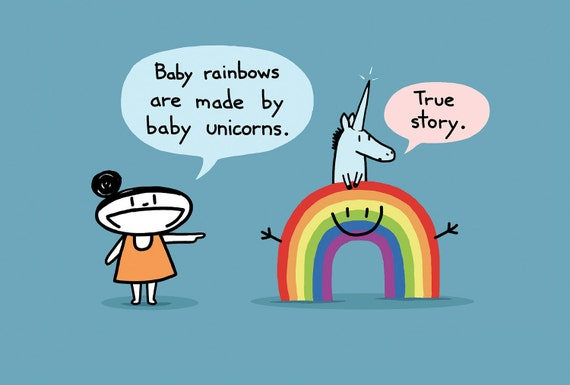 Baby Rainbow Greeting Card