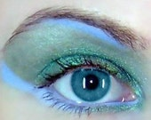 Vegan Eye Shadow Kit Turquoise and Ocean Blue Mineral Makeup Pink Quartz Minerals
