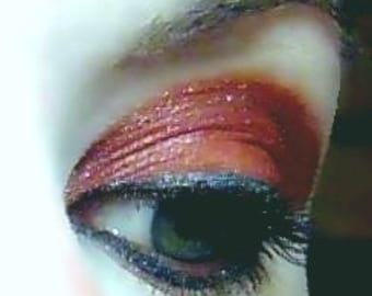 Ruby Tuesday Vegan Eye Shadow and Eyeliner Shimmery Reddish Brown Mineral Makeup Pink Quartz Minerals