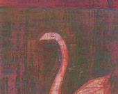 Moody Swan Small Original Acrylic Painting