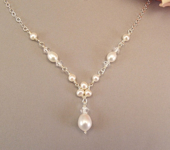 Ivory Pearl Wedding Necklace