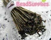 FN-HP-03001 - Nickel free Antiqued Brass headpin 144 pcs  (22 gauge)