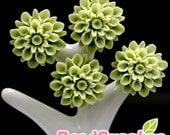 CA-CA-01525 - Khaki chrysanthemum Cabochon, 6 pcs
