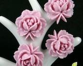 CA-CA-01303 - Lilac Rose Cabochon V1 6 pcs