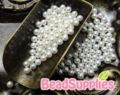 CA-AR-05002- New and Unique - Faux pearl 2mm round beads/balls with no holes, pearl white, 100 pcs