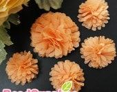 FA-FL-02007s - Fabric Pom Pom (S&M),light orange, 4 pcs