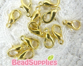 FN-CL-02001 - Gold- plated lobster clasps, 12 pcs
